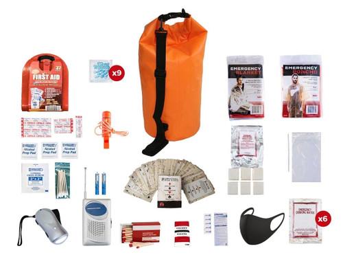 1 Person Survival Kit (72+ Hours) Waterproof Dry Bag SKGK||Waterproof Dry Bag