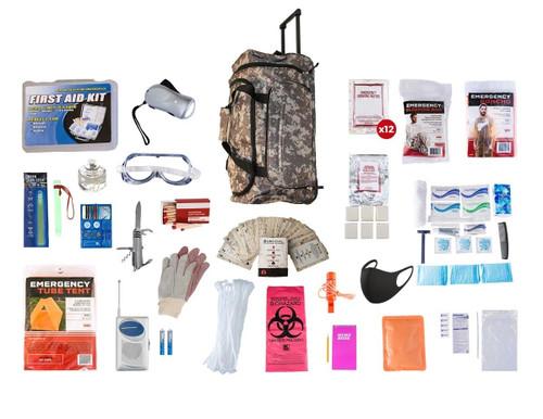 1 Person Elite Survival Kit (72+ Hours) CAMO Wheel Bag SKTK||CAMO Wheel Bag