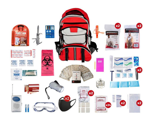 2 Person Deluxe Survival Kit (72+ Hours) SKX2
