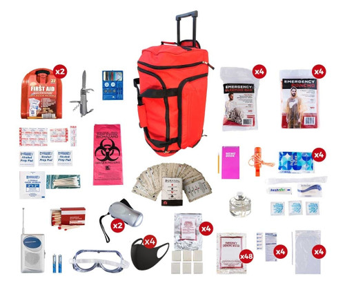 4 Person Deluxe Survival Kit (72+ Hours) SKX4