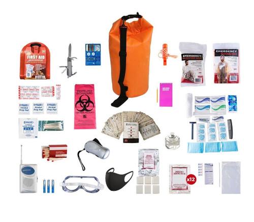 1 Person Deluxe Survival Kit (72+ Hours) Waterproof Dry Bag SKXK||Waterproof Dry Bag