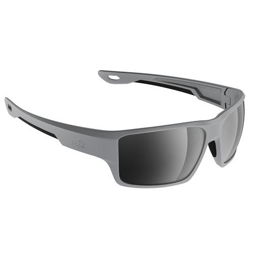 H2006 H2Optix Ashore Sunglasses Matt Grey, Grey Silver Flash Mirror Lens Cat. 3 - AntiSalt Coating w/Floatable Cord
