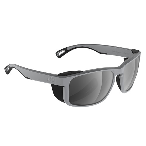 H2010 H2Optix Reef Sunglasses Matt Grey, Grey Silver Flash Mirror Lens Cat.3 - AntiSalt Coating w/Floatable Cord