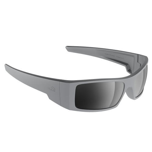 H2014 H2Optix Waders Sunglasses Matt Grey, Grey Silver Flash Mirror Lens Cat.3 - AntiSalt Coating w/Floatable Cord