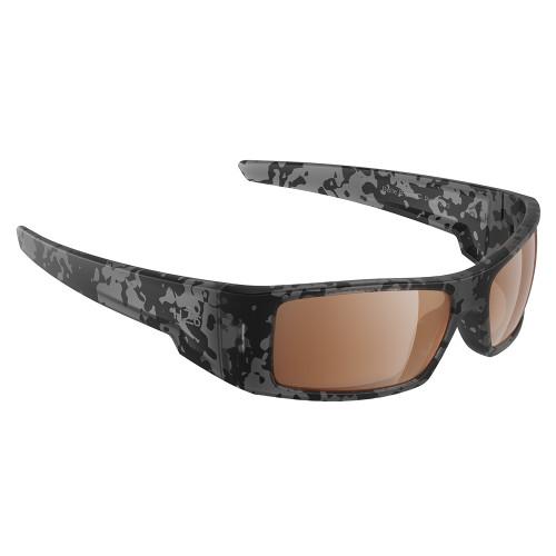 H2015 H2Optix Waders Sunglasses Matt Tiger Shark, Brown Lens Cat.3 - AntiSalt Coating w/Floatable Cord
