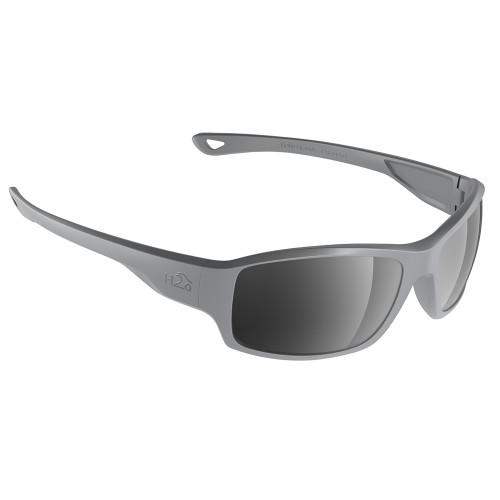 H2037 H2Optix Beachwalker Sunglasses Matt Grey, Grey Silver Flash Mirror Lens Cat. 3 - AR Coating