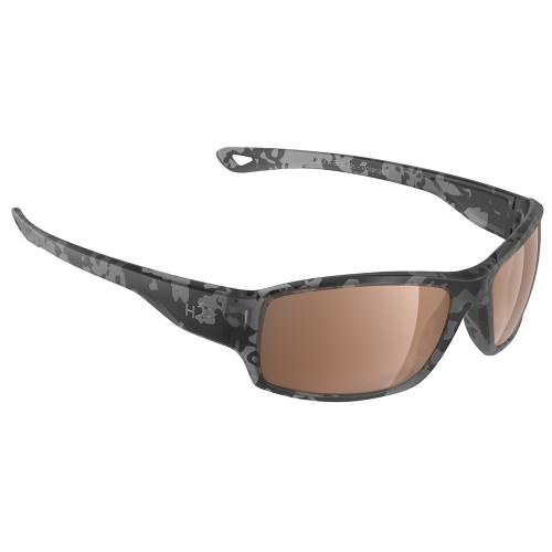 H2038 H2Optix Beachwalker Sunglasses Matt Tiger Shark, Brown Lens Cat. 3 - AR Coating