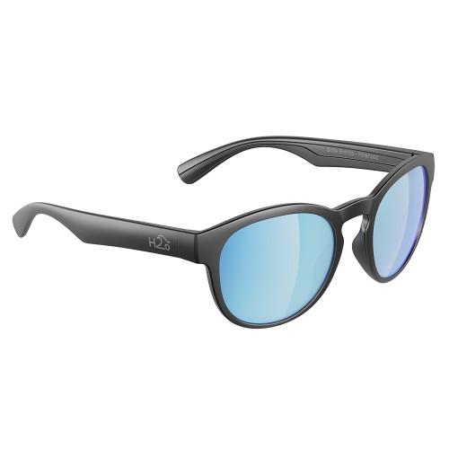 H2041 H2Optix Caladesi Sunglasses Matt Gun Metal, Grey Blue Flash Mirror Lens Cat. 3 - AR Coating