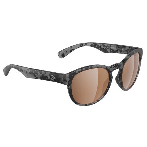 H2043 H2Optix Caladesi Sunglasses Matt Tiger Shark, Brown Lens Cat. 3 - AR Coating