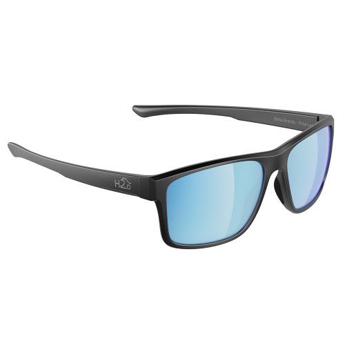 H2030 H2Optix Coronado Sunglasses Matt Gun Metal, Grey Blue Flash Mirror Lens Cat. 3 - AR Coating