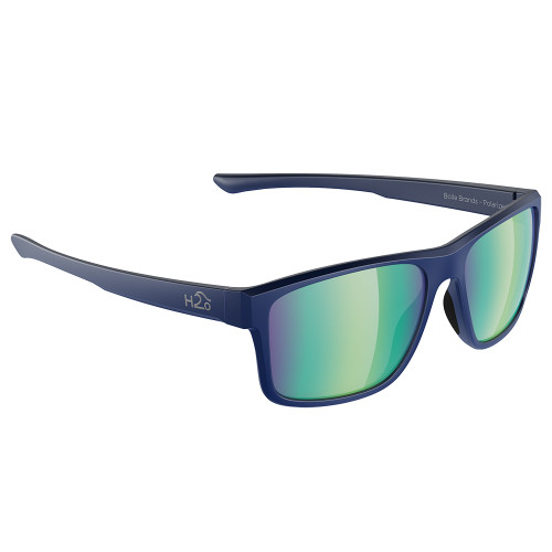 H2033 H2Optix Coronado Sunglasses Navy-Matte, Green Flash Mirror Lens Cat. 3 - AR Coating