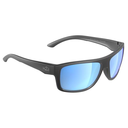 H2025 H2Optix Grayton Sunglasses Matt Gun Metal, Grey Blue Flash Mirror Lens Cat. 3 - AR Coating