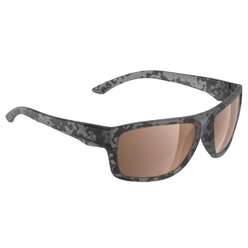 H2027 H2Optix Grayton Sunglasses Matt Tiger Shark, Brown Lens Cat. 3 - AR Coating