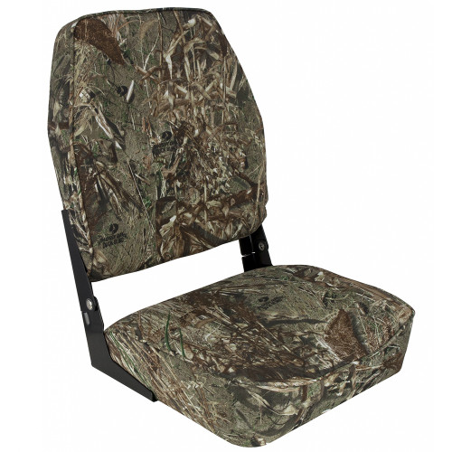 1040647 Springfield High Back Camp Folding Seat - Mossy Oak Duck Blind