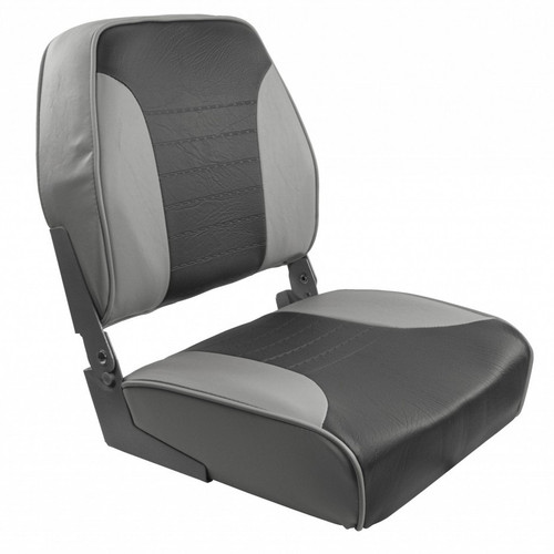 1040653 Springfield Economy Multi-Color Folding Seat - Grey/Charcoal