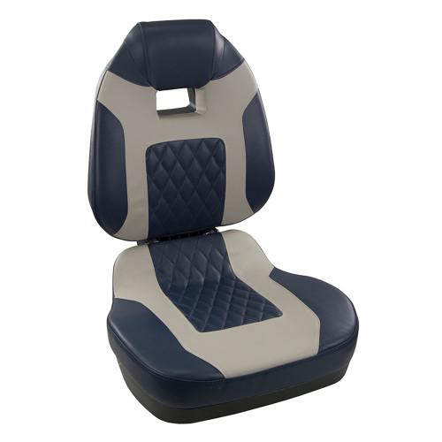1041419 Springfield Fish Pro II High Back Folding Seat - Blue/Grey