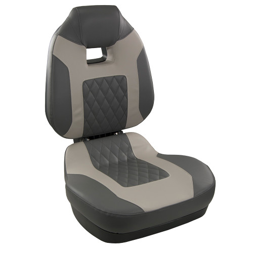 1041483 Springfield Fish Pro II High Back Folding Seat - Charcoal/Grey
