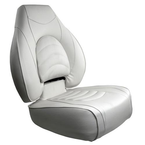 1041606-1 Springfield Fish Pro High Back Folding Seat - White