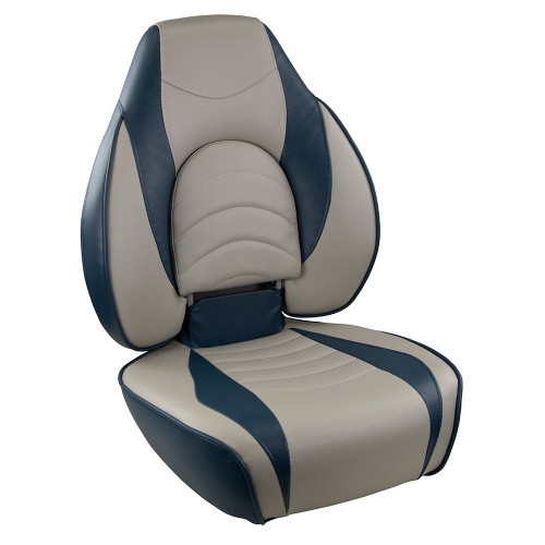 1041631-1 Springfield Fish Pro High Back Folding Seat - Blue/Grey