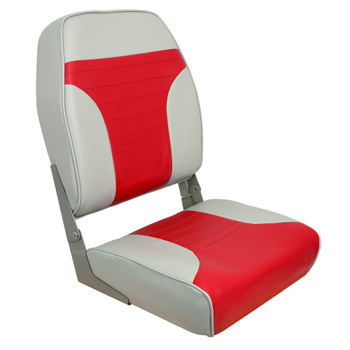 1040665 Springfield High Back Multi-Color Folding Seat - Red/Grey