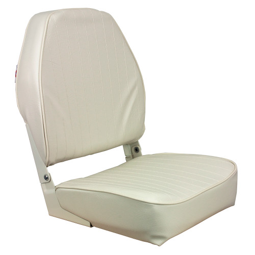 1040649 Springfield High Back Folding Seat - White