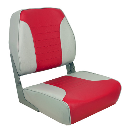 1040655 Springfield Economy Multi-Color Folding Seat - Grey/Red