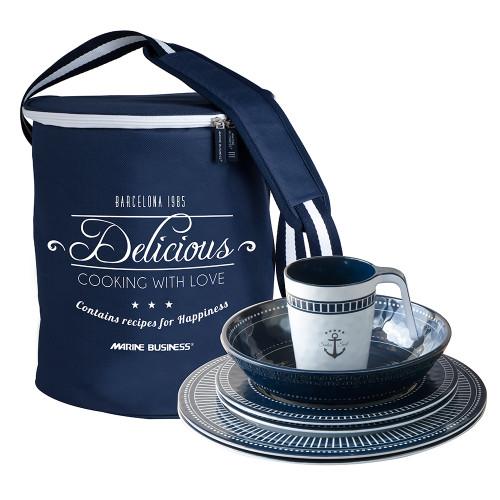 15146 Marine Business Melamine Square Tableware & Basket - NORTHWIND - Set of 24