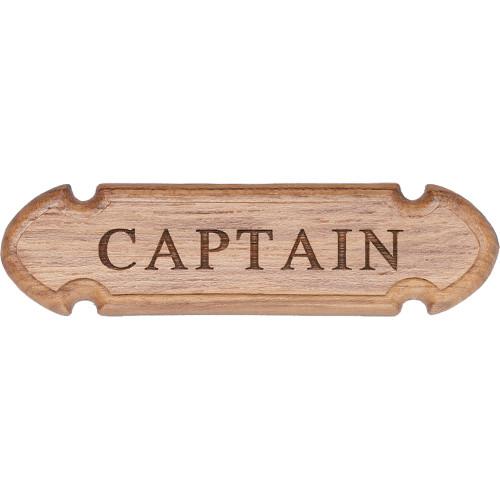 """62670 - Whitecap Teak """"CAPTAIN"""" Name Plate"""
