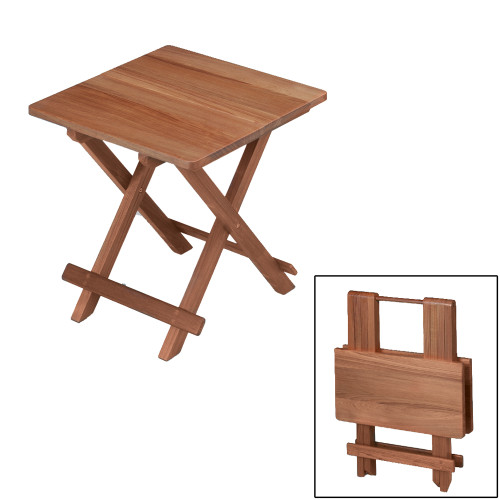 60031 - Whitecap Teak Solid Top Fold Away Table