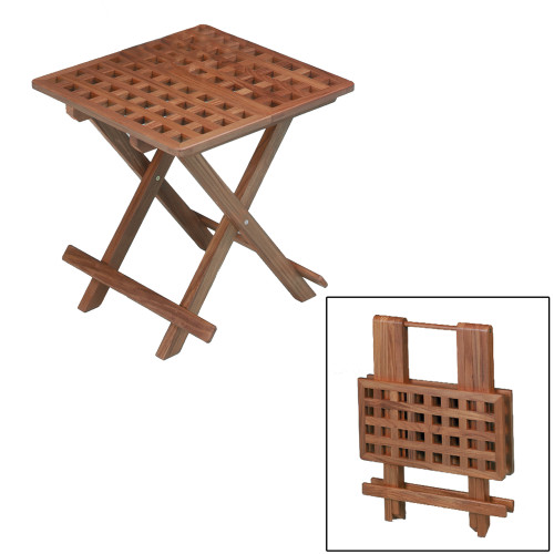 60030 - Whitecap Teak Grate Top Fold-Away Table