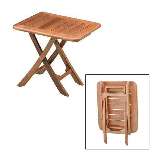 60028 - Whitecap Teak Small Adjustable Slat Top Table