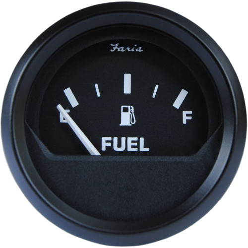 "12801 - Faria Euro Black 2"" Fuel Level Gauge (E-1/2-F)"