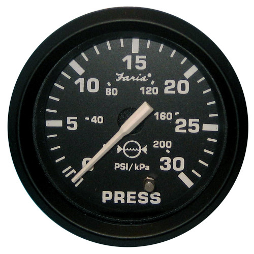 "12810 - Faria Euro Black 2"" Water Pressure Gauge Kit - 30 PSI"