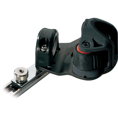 RC81942 - Ronstan Series 19 C-Track Slide - w/Swiveling Dead Eye - Cam Cleat - Spring-Loaded Track Stop