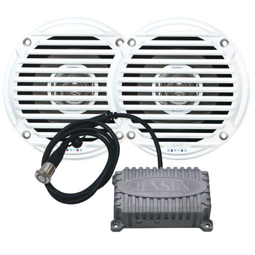 """CPM50 - JENSEN CPM50 Bluetooth Amplifier Package w/JAHD240BT 80W, 2-Channel Bluetooth Amplifier & MS5006 5"""" Speakers"""
