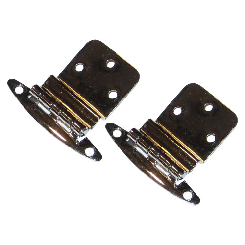 """0271DP0CHR - Perko Chrome Plated Brass 3/8"""" Inset Hinges"""