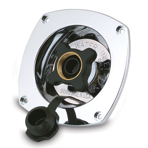 183-029-14 - SHURFLO Pressure Reducing City Water Entry - Wall Mount - Chrome