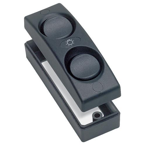 1101-BK - Marinco Contour 1100 Series Double Interior Switch - On/Off - Black