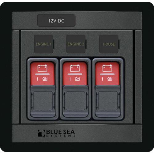 1148 - Blue Sea 1148 Remote Control Panel w/(3) 2145 Remote Control Contura Switch