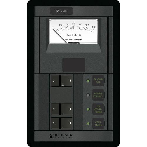 1206 - Blue Sea 1206 120V AC Main + 2 Positions w/AC Voltmeter