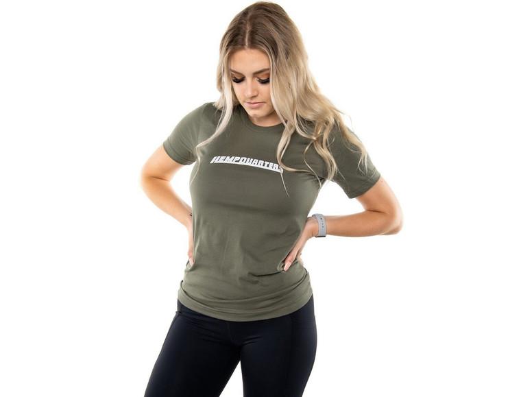 HempQuarters Mid-Chest T-Shirt (Green) Unisex