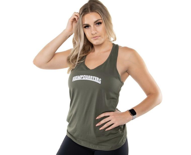 HempQuarters Army Green Tank (Women)