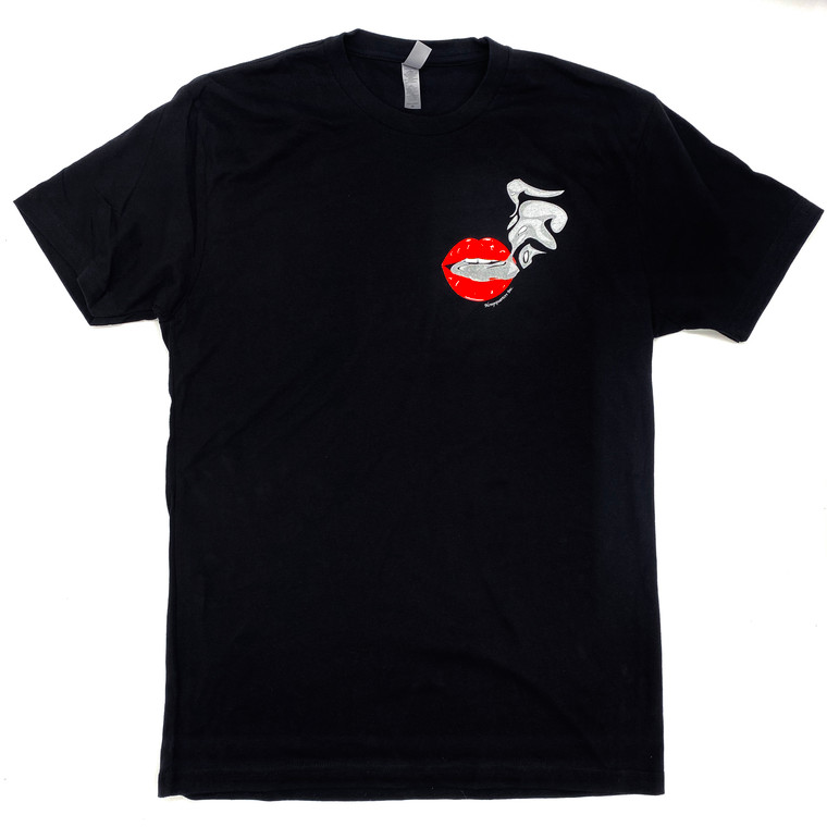 Hempquarters Inc Red Lips w/ Smoke Black TEE