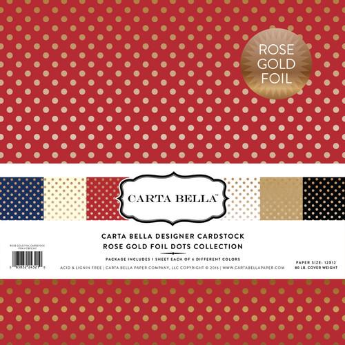 Rose Gold Foil Dots