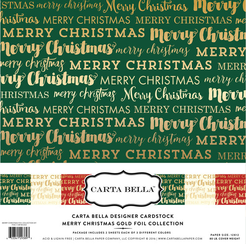 Merry Christmas Gold Foil