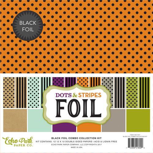 Dots & Stripes Black Foil