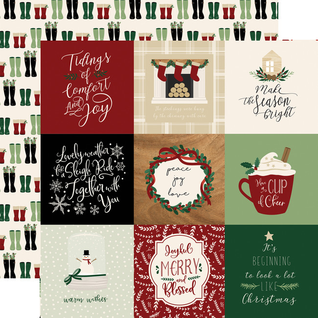 ACC189012 - A Cozy Christmas: 4x4 Journaling Cards