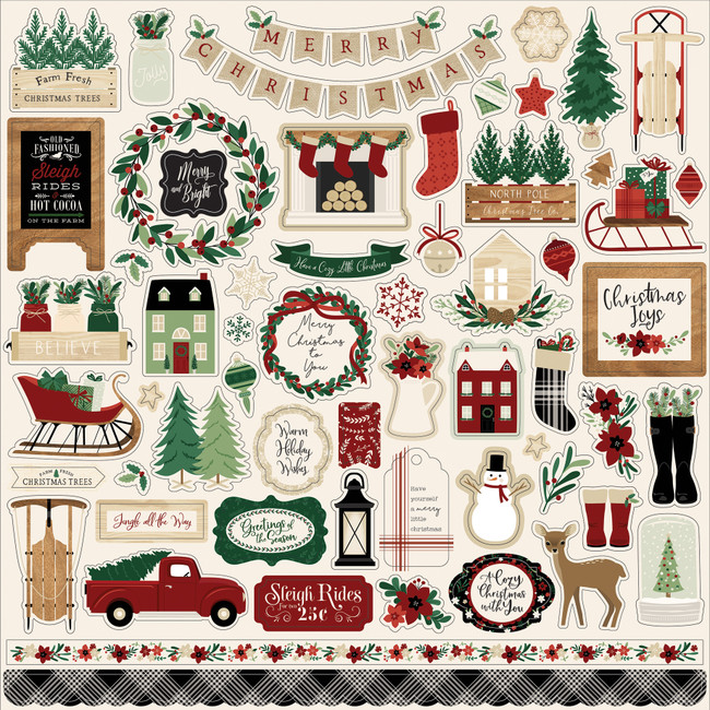 ACC189014 - A Cozy Christmas: Element Sticker Sheet