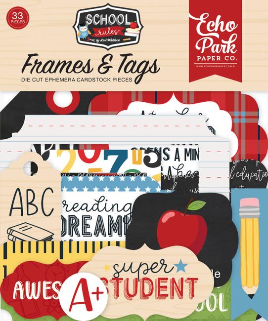 SCR215025 - School Rules Frames & Tags