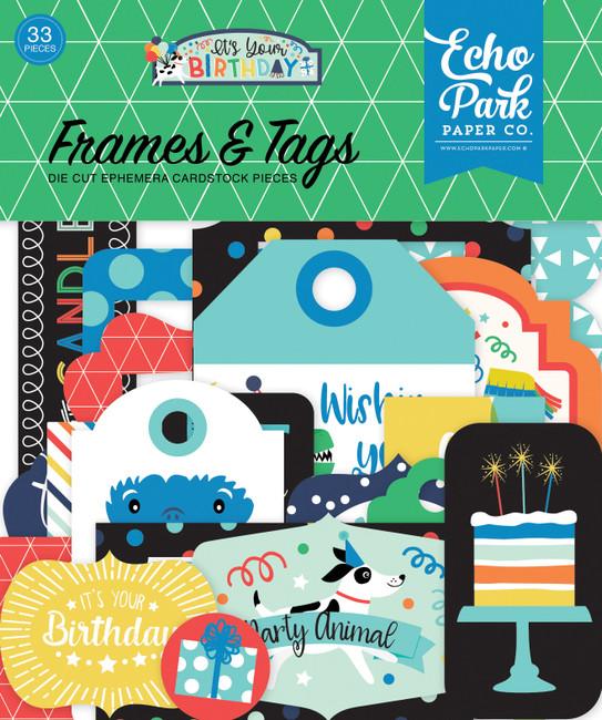 YBB201025 - It's Your Birthday Boy Frames & Tags
